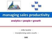 Managing Sales Productivity