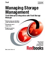 Managing storage management tivoli ...