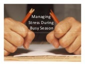 Managing Stress During Busy Season - FICPA