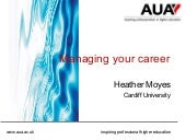 Managing your career - Heather Moyes