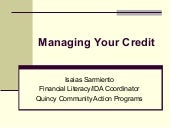 Managing Your Credit