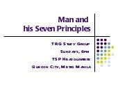 Man and his seven principles