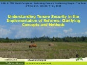 Understanding Tenure Security in the Implementation of Reforms: Clarifying Concepts and Methods