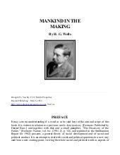 Mankind in The Making - H.G. Wells,...