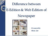 difference between e-edition and we...