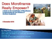 Does Microfinance Really Empower? A...