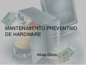 Mantenimiento preventivo  de hardware