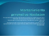Mantenimiento preventivo hardware sp