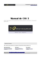 Manual css3 DesarrolloWeb