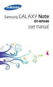 Manual Samsung  Galaxy Note GT-N7000