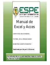 Manual de excel y acces