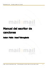 Manual del escritor de canciones