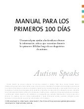 Manual de los 100 dias - Autism Speaks