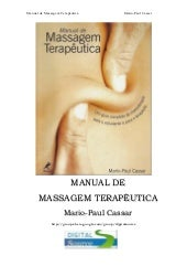 Manual de massagem.