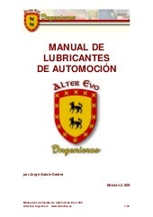 Manual lubricación alter evo