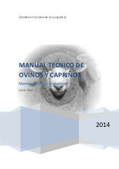 MANUAL TECNICO DE OVINOS Y CAPRINOS