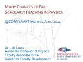 Many Chances to Fail: Scholarly Tea...