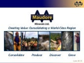 Maudore Minerals Ltd. video