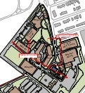 Map of Henderson Hall's Southgate Road construction, alteranate parking