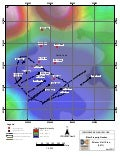 Map:  Drill Map of Eldor Rare Earth Project in Quebec (April 2011)