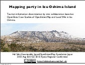 Mapping party in izuoshima island