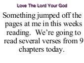 Mar 2-8 Love The Lord Your God