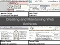 Creating and Maintaining Web Archives