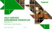 Self-service experience principles