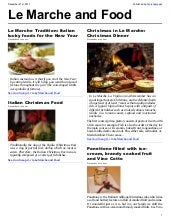 Marche & The Food - Magazine n.1