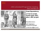 JISC Expectations for Projects