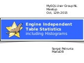 MariaDB: Engine Independent Table Statistics, including histograms