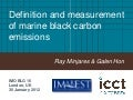 Definition and measurement of marine black carbon emissions