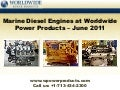Marine diesel engines at worldwide power products – june 2011