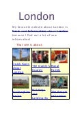 Marinos' project about London