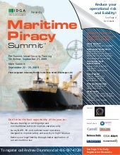 Maritime Piracy Summit 2009