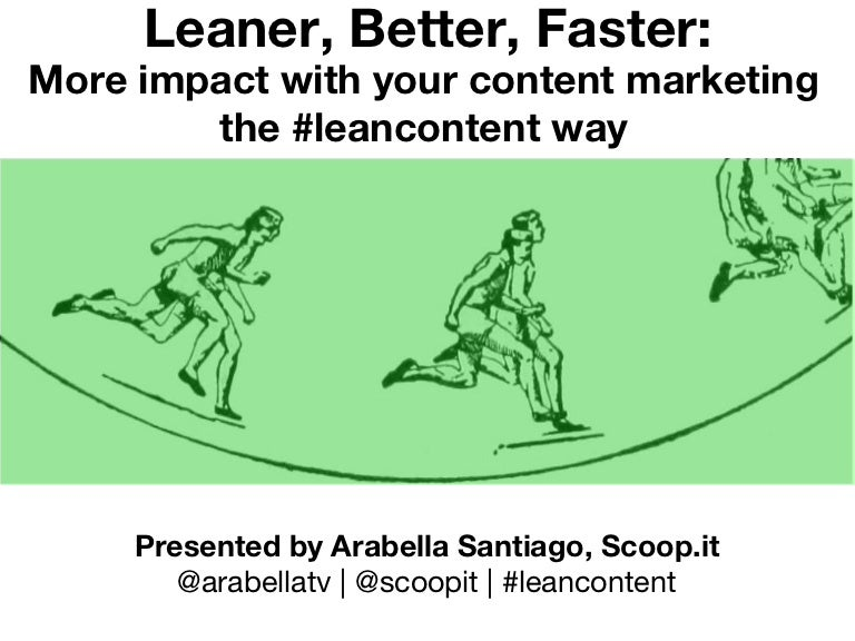 Content Marketing the #LeanContent Way