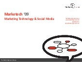 Marketech 09; marketing and technology