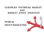 Market entry for European Footwear ...