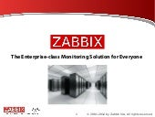 Zabbix - Company, Product and Services