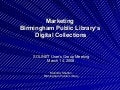Marketing Birmingham Public Library's Digital Collections
