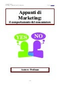 Appunti di Marketing: comportamento consumatore