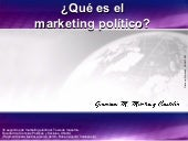 Marketing Político Electoral