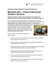 Marketing Plan … Video Conferencing...