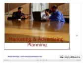 Marketing & Advertising Planning