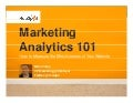Marketing Analytics 101 Webinar July2009