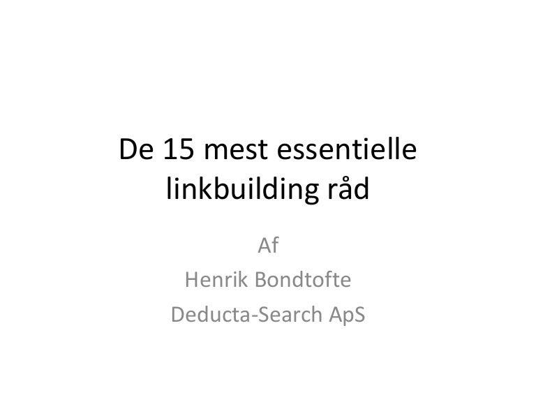 15 Essentielle linkbuilding råd