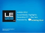 Marketing Cloud LeWeb Analysis Day ...