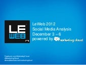 Summary Analysis of LeWeb 2012 in P...