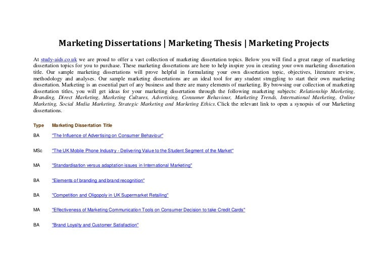 Any ideas for a Sports Marketing dissertation title?