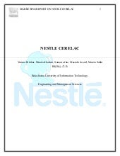 nestle cerelac marketing plan